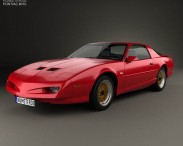 3D model of Pontiac Firebird Trans Am GTA 1991