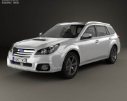 3D model of Subaru Outback SX 2012