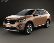3D model of Kia Sorento UM 2015