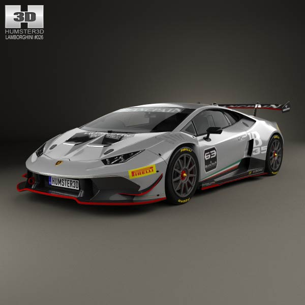 lamborghini huracan lp 620 2 super trofeo 2014 3d model humster3d. Black Bedroom Furniture Sets. Home Design Ideas