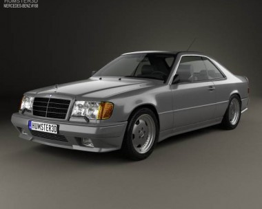 3D model of Mercedes-Benz E-Class AMG coupe 1988