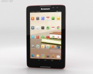 3D model of Lenovo Tab A8 Red