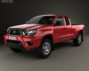 3D model of Toyota Tacoma Access Cab 2012