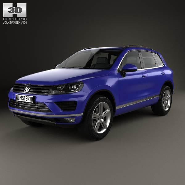 3D model of Volkswagen Touareg 2015