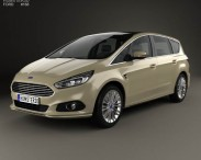 3D model of Ford S-Max 2015