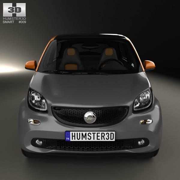 Smart Forfour 2014 3D model - Humster3D