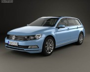 3D model of Volkswagen Passat (B8) variant 2014