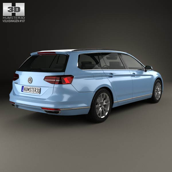 volkswagen passat b8 variant 2014 3d model humster3d. Black Bedroom Furniture Sets. Home Design Ideas