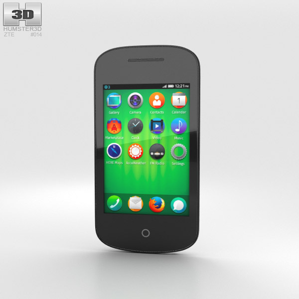 3D model of ZTE II Open White