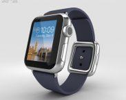 3D model of Apple Watch 38mm Stainless Steel Case Blue Modern Buckle