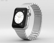 3D model of Apple Watch 38mm Stainless Steel Case Link Bracelet