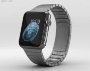 3D model of Apple Watch 42mm Black Stainless Steel Case Link Bracelet
