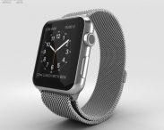 3D model of Apple Watch 42mm Stainless Steel Case Milanese Loop