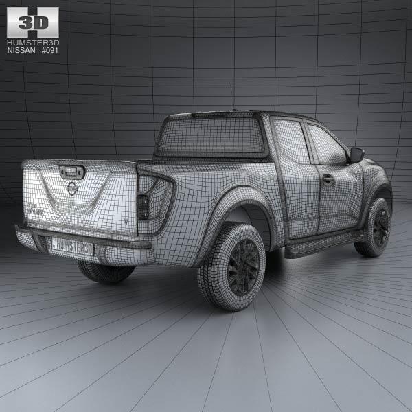 Nissan Navara King Cab 2015 3d car model