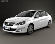 3D model of Peugeot 408 (CN) 2014