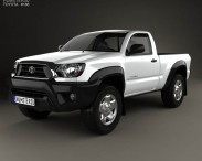 3D model of Toyota Tacoma Regular Cab 2012