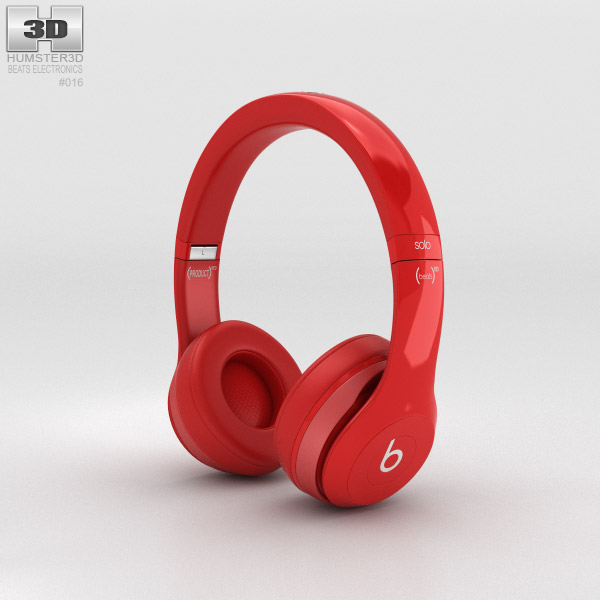 3D model of Beats by Dr. Dre Solo2 On-Ear Headphones Red
