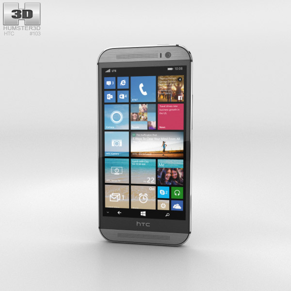 HTC One (M8) Windows Phone Gunmetal Gray 3D model - Humster3D