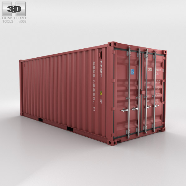 3D model of Shipping Container 20ft