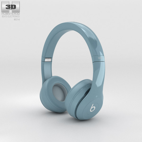 3D model of Beats by Dr. Dre Solo2 On-Ear Headphones Gray