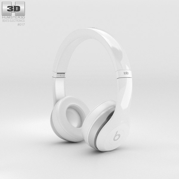 3D model of Beats by Dr. Dre Solo2 On-Ear Headphones White