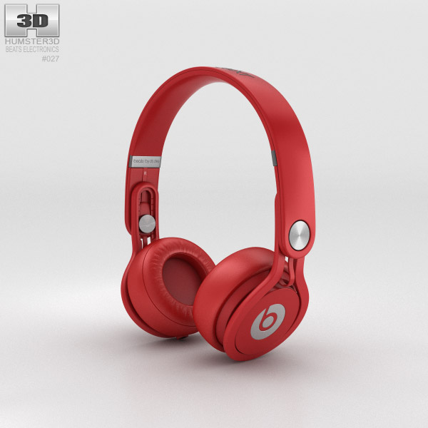 3D model of Beats Mixr High-Performance Professional Red