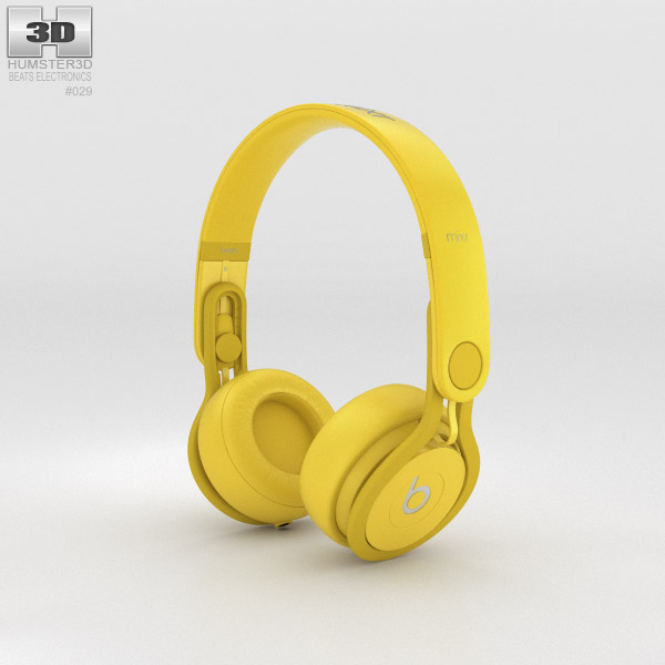 3D model of Beats Mixr High-Performance Professional Yellow