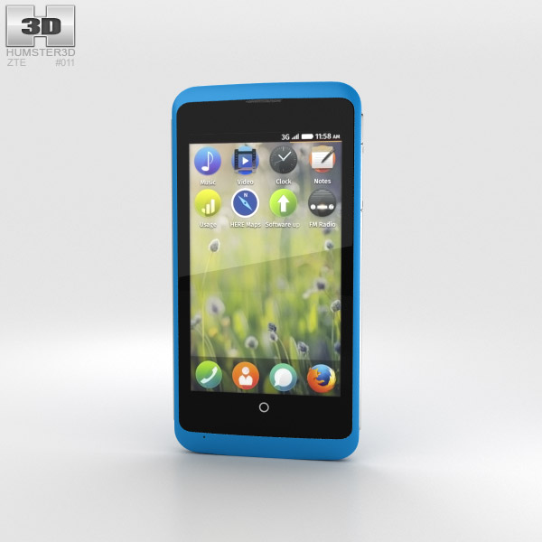 3D model of ZTE Open C Blue