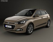 3D model of Hyundai Elite i20 2014