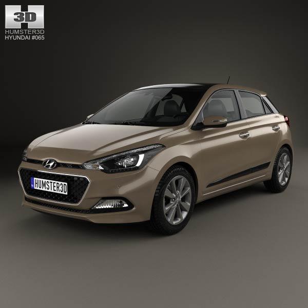 3D model of Hyundai Elite i20 2014