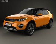 3D model of Land Rover Discovery Sport HSE Luxury 2015