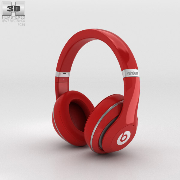 3D model of Beats by Dr. Dre Studio Wireless Over-Ear Red