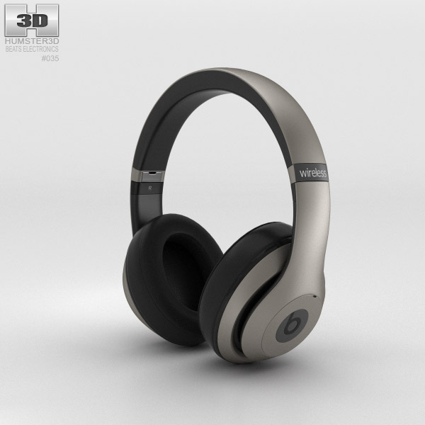 3D model of Beats by Dr. Dre Studio Wireless Over-Ear Titanium