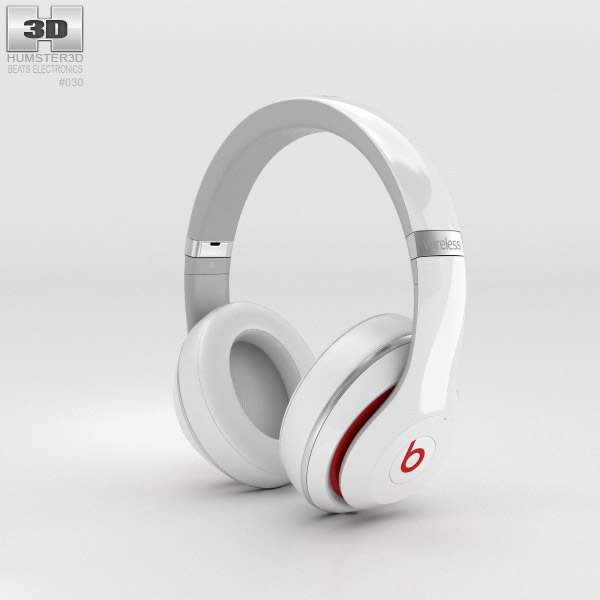 3D model of Beats by Dr. Dre Studio Wireless Over-Ear White