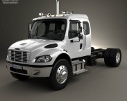 3D model of Freightliner M2 Extended Cab Chassis Truck 2014