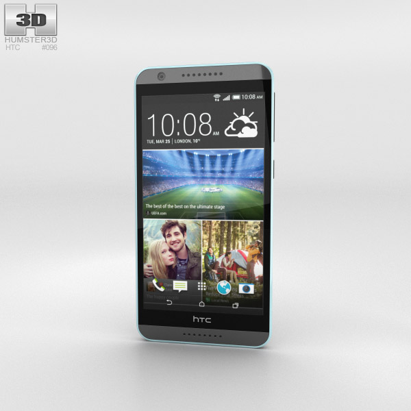3D model of HTC Desire 820 Tuxedo Grey