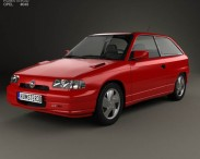 3D model of Opel Astra (F) 3-door GSi 1991