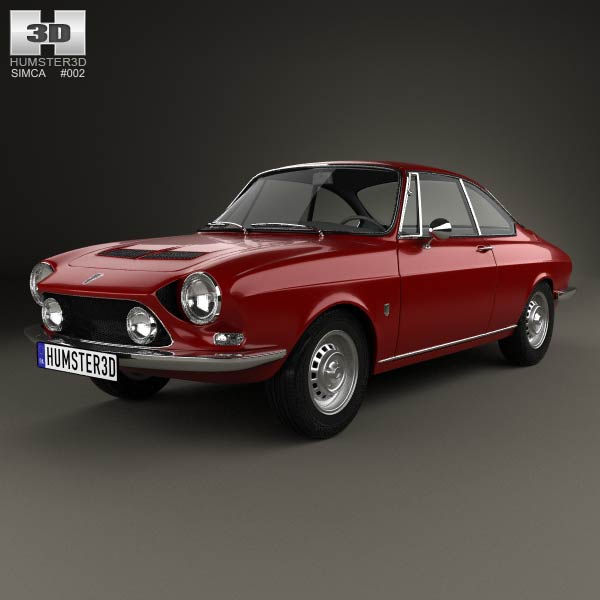 3D model of Simca 1200 S coupe 1969