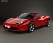 3D model of Ferrari 458 Spider 2010