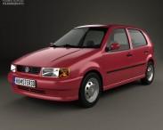 3D model of Volkswagen Polo 5-door 1994