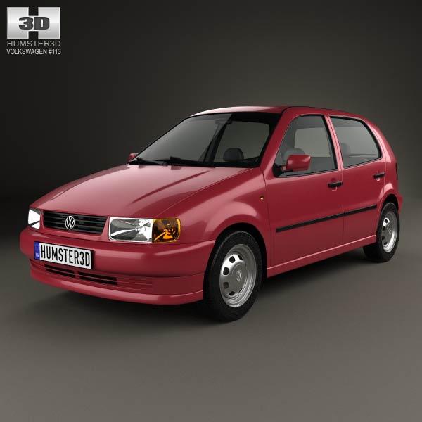 volkswagen polo 5 door 1994 3d model humster3d. Black Bedroom Furniture Sets. Home Design Ideas
