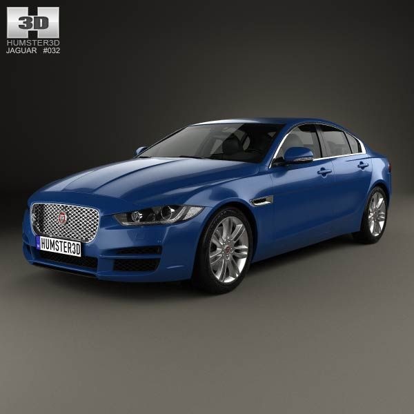 jaguar xe 2015 3d model humster3d. Black Bedroom Furniture Sets. Home Design Ideas
