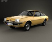 3D model of Opel Manta (B) 1975