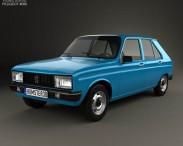 3D model of Peugeot 104 5-door 1976