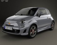 3D model of Fiat 500 Abarth 595 Competizione 2012