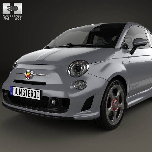 fiat 500 abarth 595 competizione 2012 3d model humster3d. Black Bedroom Furniture Sets. Home Design Ideas