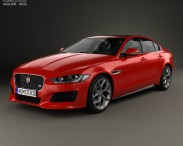3D model of Jaguar XE S 2015