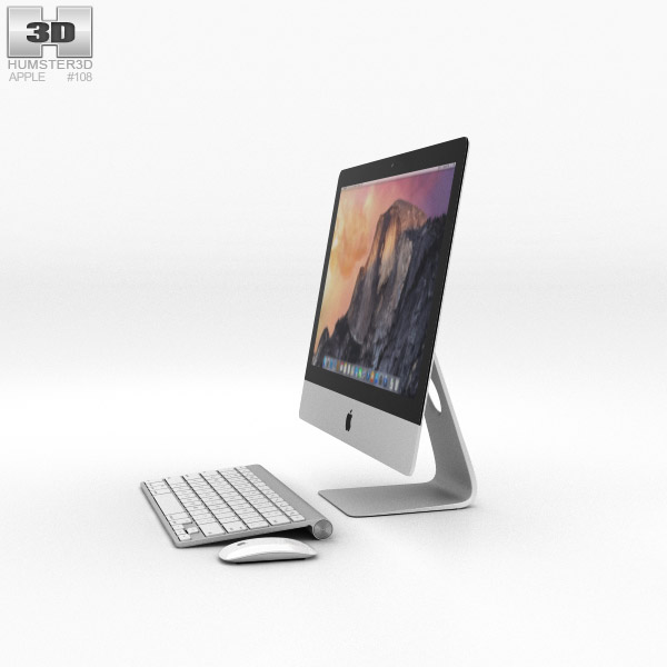 Apple iMac 21.5-inch 2014 3D model - Humster3D