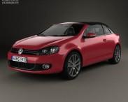 3D model of Volkswagen Golf convertible 2011