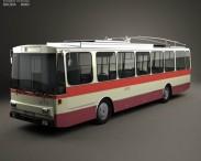 3D model of Skoda 14Tr Trolleybus 1982